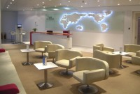 We were commissioned to create a European HQ for Etihad Airways. Designed during the summer of 2004. WVC built and installed everything from walls and doors through to the new café-kitchen and reception desk. The contemporary Italian furniture was complimented by the lighting display on the curved rear wall